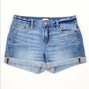 J. CREW | Rolled Low-Rise Distressed Jean Shorts